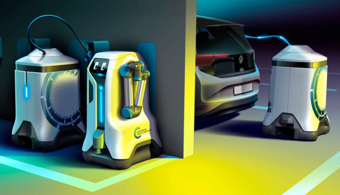 Volkswagen opracuje robota, który będzie ładował samochody elektryczne